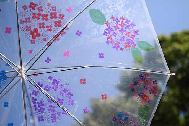 「世界に一つ。オリジナル傘を描いて長野公園を彩ろう!」ワークショップ